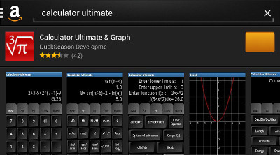 Calculator Ultimate on Amazon Appstore